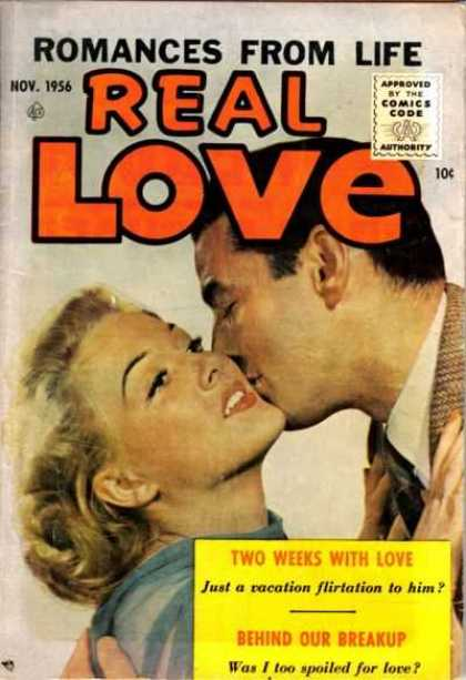 Real Love 76 - Romances From Life - Approved By The Comics Code - Man - Woman - Two Weeks With Love