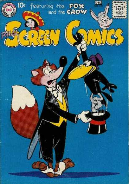 Real Screen Comics 125 - The Fox And The Crow - Magician - Top Hat - Tailcoat - Spats