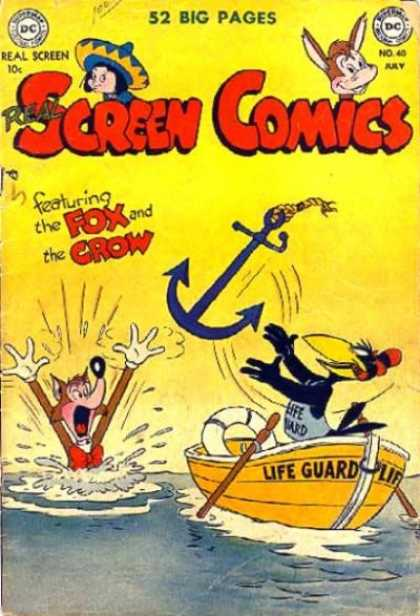 Real Screen Comics 40 - Dc - Donkey - The Fox And The Crow - Anchor - July