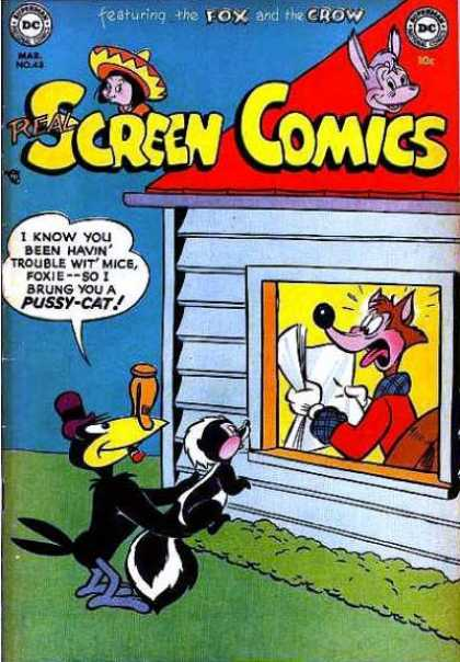 Real Screen Comics 48 - Smelly Skunk - Suprise - Wolf - Purple Hat - Crow