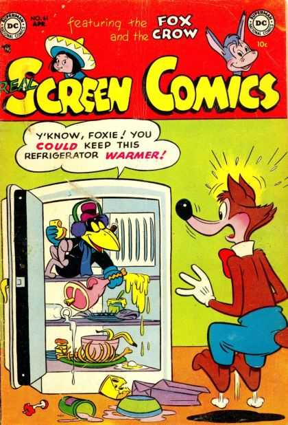Real Screen Comics 61 - Superman National Comics - Fox Crow - Refrigerator - Meat - Bones