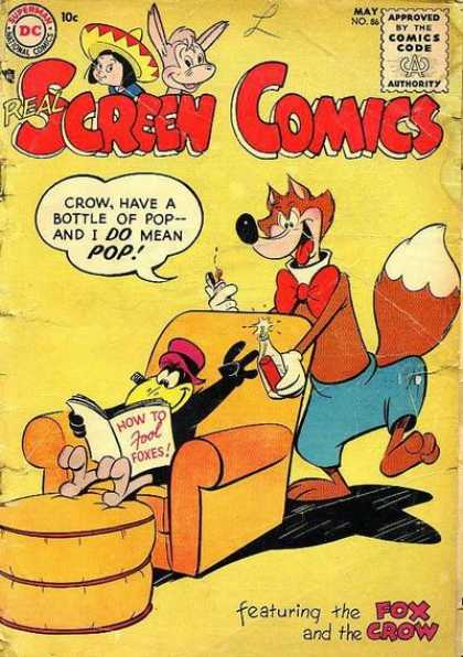 Real Screen Comics 86 - Fox - Crow - Dynomite - Pop - How To Fool Foxes