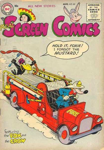 Real Screen Comics 89 - Dc - All New Stories - Comics Code - Fireman - Crow