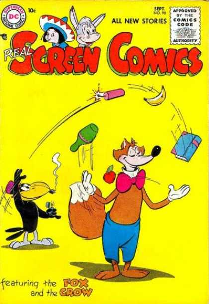 Real Screen Comics 90 - The Fox - The Crow - Juggling - Dynamite - Mischeif