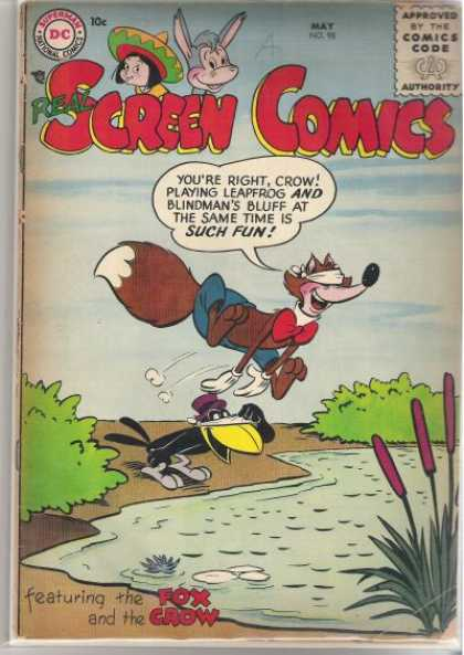 Real Screen Comics 98 - Superman - Blindmans Bluff - Leapfrog - Fox - Crow