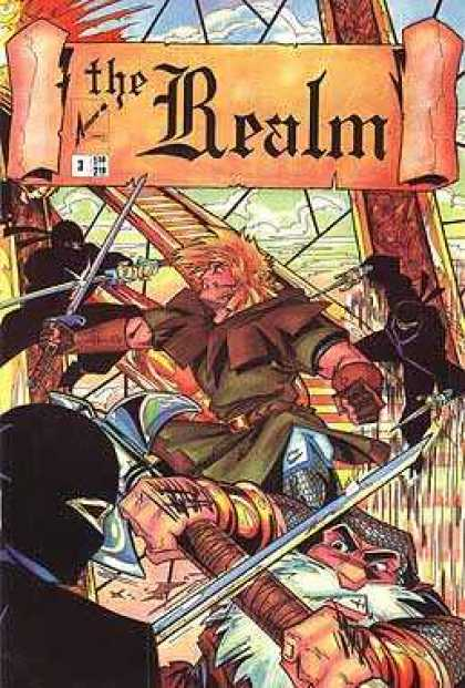 Realm 3 - Knights - Swords - Samurai - Fighting - Warriors - Brian Bendis, Guy Davis