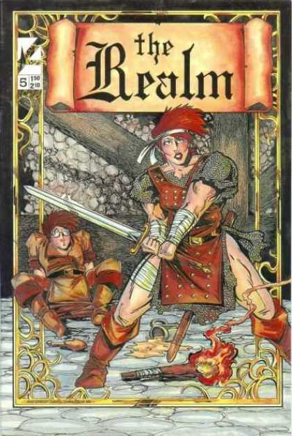 Realm 5 - 5 - Sword - Torch - Spilled Ale - Warrior Girl - Brian Bendis, Guy Davis