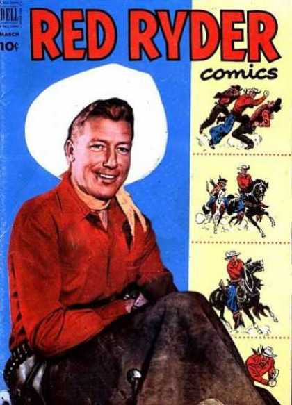Red Ryder Comics 104 - The Adventures Of Red Ryder - Daredevil Red Ryder - The Bang Of Red Ryder - The Red Ryder And The Bully - The Super Power Red Ryder