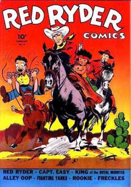 Red Ryder Comics 11 - Cactus - Horseriding - Cowboy - Indian - Comedy