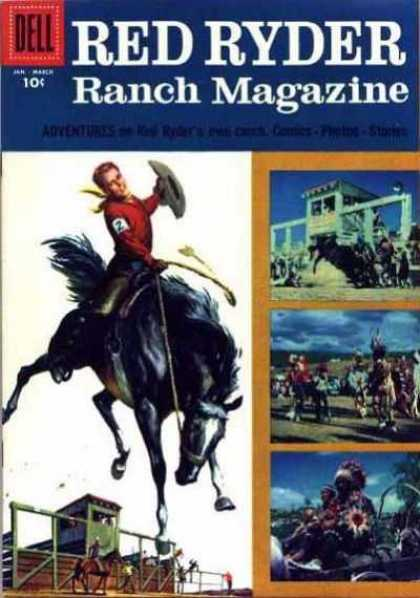 Red Ryder Comics 146 - Rodeo - Cowboy - Horses - Sky - Western