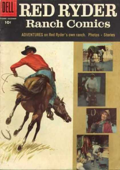 Red Ryder Comics 149 - Cowboy - Western - Photos - Horseshoeing - Red Ryders Own Ranch