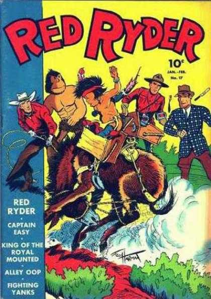 Red Ryder Comics 17 - Cowboy - Bucking Horse - Indian - Ranger - Rope