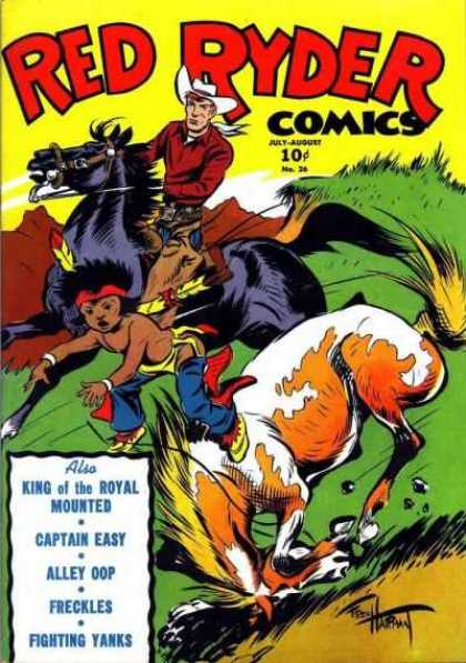 Red Ryder Comics 26 - King Of The Royal Mounted - Captain Easy - Alley Oop - Freckles - Fighting Yanks