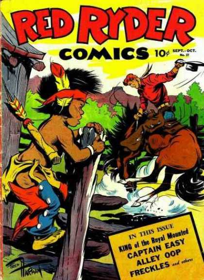 Red Ryder Comics 27 - Captain Easy - Alley Oop - Wild West - Cowboy - Freckles