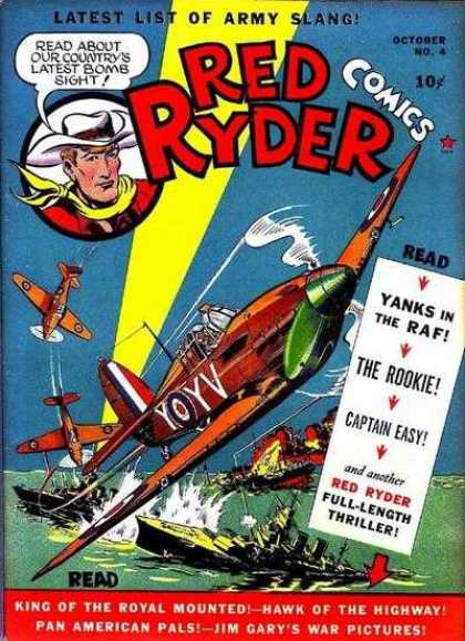 Red Ryder Comics 4 - Army Slang - Latest List - October - No 4 - 4