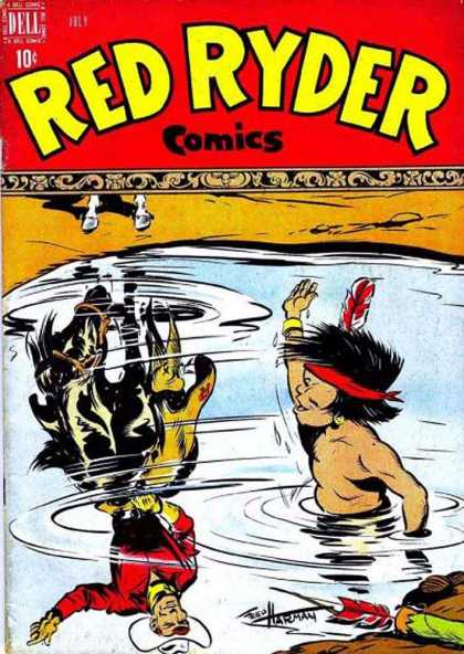 Red Ryder Comics 60 - Cowboy - Indian - Water - Desert - Sand