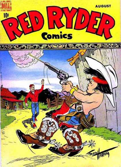 Red Ryder Comics 61 - Dell - 10 Cents - August - Cowboy - Gun