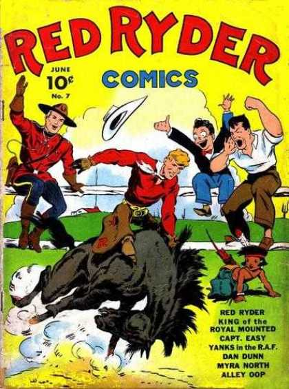 Red Ryder Comics 7 - Little King - Flying Hat - Red Houres - Big Man - Magic Man