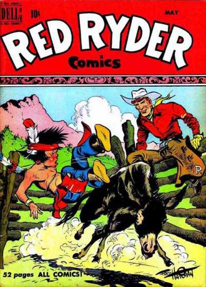 Red Ryder Comics 82 - Rodeo - Cowboys U0026 Indians - Painful - Bull - Old West