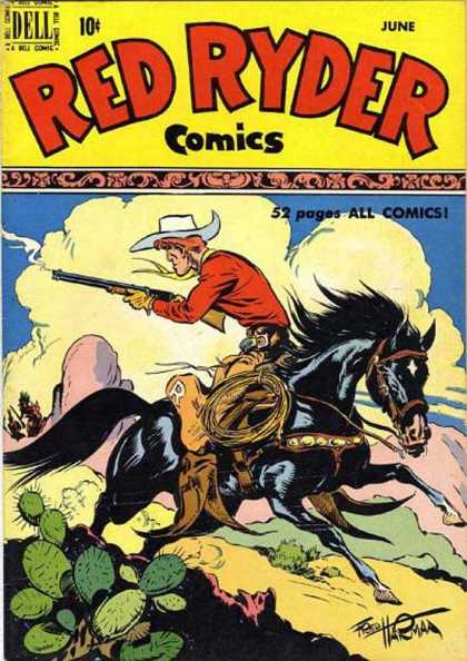 Red Ryder Comics 83 - Cap - Dell - June - Horse