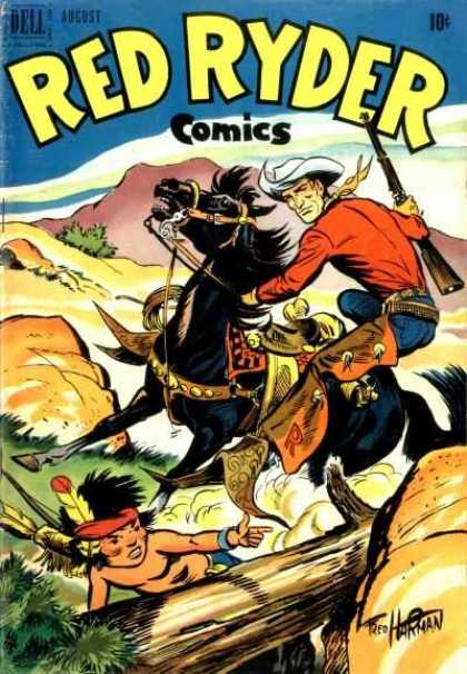 Red Ryder Comics 97 - Gun - Horse - Cap - Fighting Man - One Children