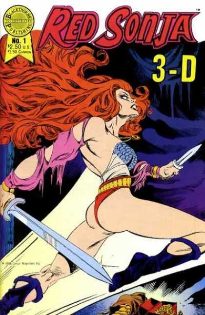 Red Sonja 3-D 1 - Red Sonja - 3d - Sword - Superwoman - Red Hair
