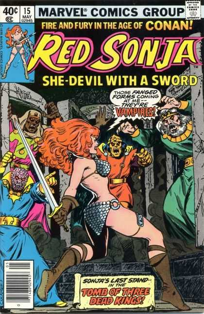 Red Sonja 15 - She Devil With A Sword - Bikini - Those Fanged Forms Coming At Me Theyre Vampires - Fire And Fury In The Age Of Conan - Tomb Of Three Dead Kings