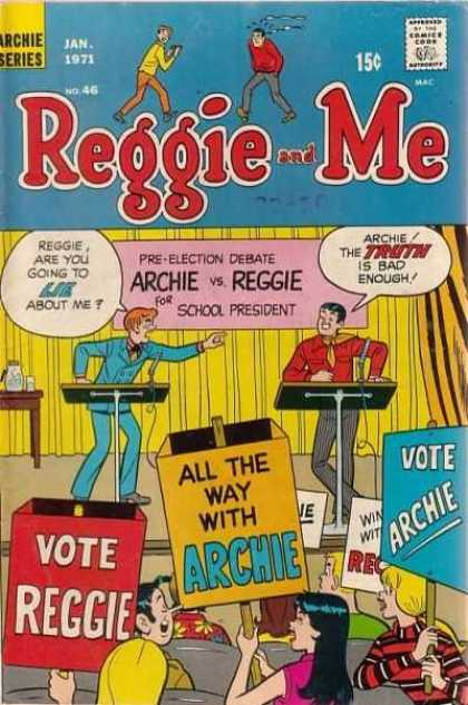 Reggie and Me 46 - Reggie And Me - Archie Comics - School President - Election - Debate