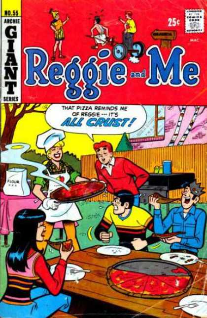 Reggie and Me 55 - Archie Giant Series - All Crust - Pizza - Cookout - Fence