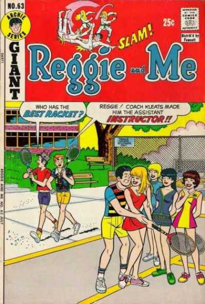Reggie and Me 63 - Archie - Racket - Tennis - Jughead - 25 Cents