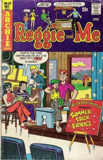 Reggie and Me 82 - No 82 - Archie Series - Girls - Boys - Summer Stock Frolics