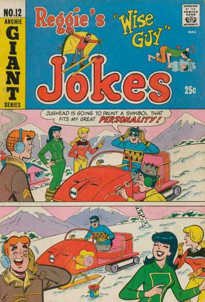 Reggie's Wise Guy Jokes 12 - Archie - Veronica - Betty - Snowmobile - Mountains
