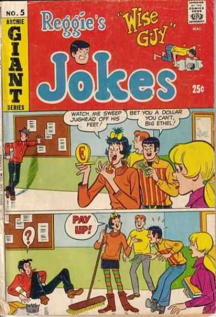Reggie's Wise Guy Jokes 5 - Giant Series - Approved By The Comics Code - Wise Guy - Woman - Man