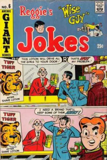 Reggie's Wise Guy Jokes 6 - Archie - No 6 - Giant Series - Tuff Tiger - After Shave Lotion