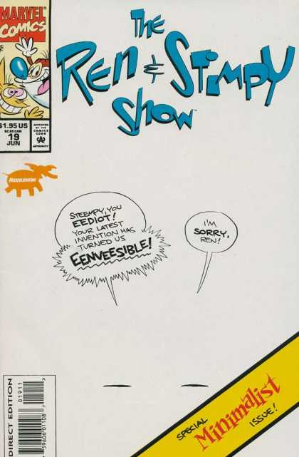Ren & Stimpy Show 19 - Marvel - Nickeldon - Happy Happy - Joy Joy - Eediot
