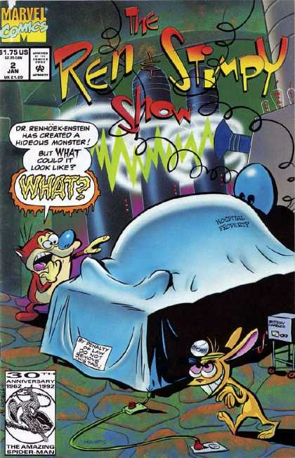 Ren & Stimpy Show 2 - Scientist - Evil - Electricity - Cat - Dog