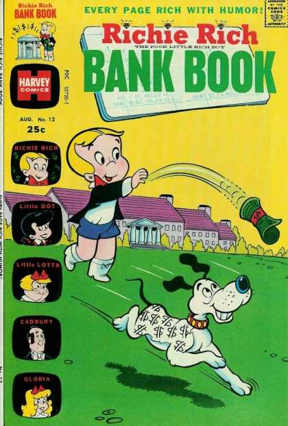 Richie Rich Bank Books 12 - Dollar - Dog - Harvey Comics - Palace - Money