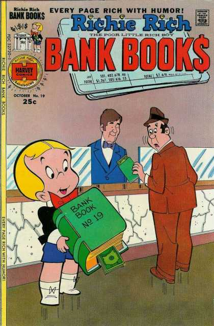 Richie Rich Bank Books 19 - Humor - Bank - Surprise - Bank Teller - Suit
