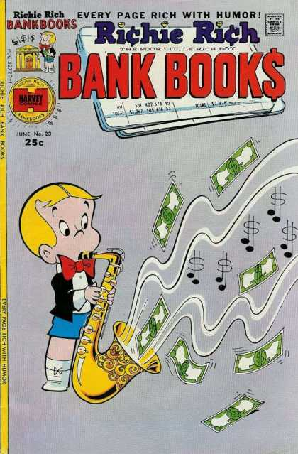 Richie Rich Bank Books 23 - Richie Rich - Dollar - Music - Saxophone - Rich Boy