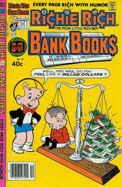 Richie Rich Bank Books 44 - Blonde - Scale - Harvey - Money - Bowtie