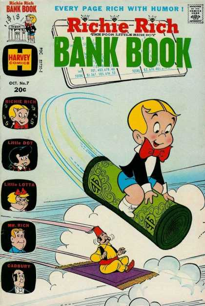 Richie Rich Bank Books 7 - Harvey Comics - Little Dot - Little Lotta - Cadbury - Oct No 7