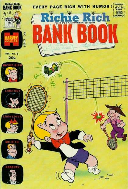 Richie Rich Bank Books 8 - Badminton - Diamonds - Net - Raquets - Boys