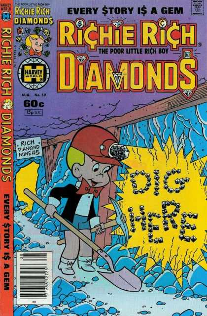 Richie Rich Diamonds 59 - Dig Hire - Diamnd - Every Story Is A Gem - The Poor Little Rich Boy - Harvey