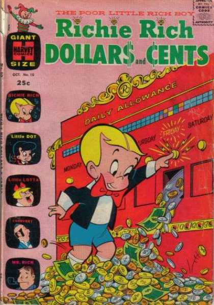 Richie Rich: Dollars & Cents 10 - Money - Dollars - Coins - Allowance - Friday