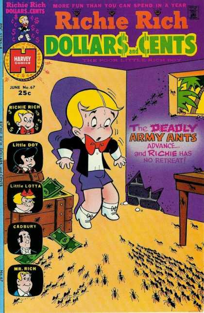 Richie Rich: Dollars & Cents 67 - The Deadly Army Ants Advance - Money - More Fun Tha You Can Spend In A Year - Harvey Comics - Little Dot