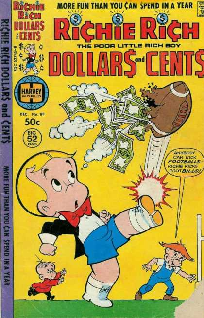 Richie Rich: Dollars & Cents 83 - Bills - Kick Football - Ripped Football - Anybody - Surprised Boy