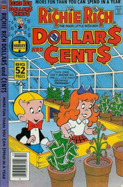 Richie Rich: Dollars & Cents 88 - Money - Two Little Kids - Rich Boy - Gardening - Funny
