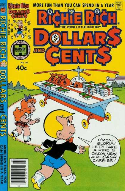 Richie Rich: Dollars & Cents 97 - Richie Rich - Money - Helicopter - Girl - Kids