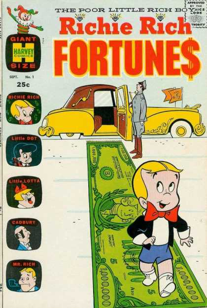 Richie Rich Fortunes 1 - Jack In The Box - Retro Luxury Car - Banners - Chauffeur - Fringed Carpet