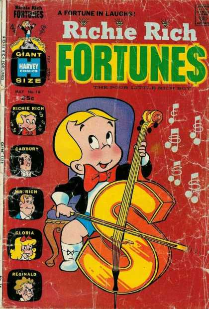 Richie Rich Fortunes 16 - Kid - Money - Dollar - Cello - Music